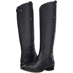SAM EDELMAN Leather Riding Penny Boots Black 6